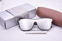 cajas de regalo para gafas al por mayor-Nueva marca de arriver gafas de sol grandes gafas de sol de marco de tablón para hombres mujeres al aire libre playa gafas de sol mejor regalo con caja de caja
