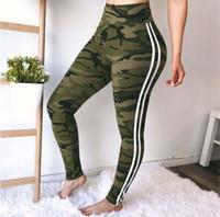 calças leggins venda por atacado-Mulheres Yoga Calças Leggings Camuflagem Calças De Fitness Yuga Leggin Magro Cintura Alta Calças Mulheres Sportswear Workout Calças Femininas Patchwork Sexy