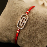 2017 Fashion Free Shipping New Head Red String Braccialetti Amanti Lucky Red Thread Protection Bracciale Donna Bracciale Charm Bracciale Pulsears