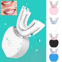 ingrosso spazzola per i denti-Spazzolino elettrico automatico a 360 gradi Spazzolino dentale ricaricabile Sonic Spazzolino in silicone USB Spazzole per denti Cura intelligente Tipo U 4 colori