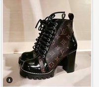 Wholesale Muscle Beach - 2018 NEW TOP Quality Luxury Brand 9.5cm Heel Women Genuine Leather Ankle Martin Boots Thick Soles Chunky Heel Beach Boots Size EU35-40