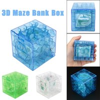 Wholesale puzzle box for kids for sale - 3D Cube Puzzle Money Maze Bank Saving Coin Collection Case Box Fun Brain Game For children kids toys juguetes brinquedos