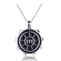 Wholesale Games Diamonds - New Fashion Silver Gold Game Fallout 4 Vault 111 Pendant Necklace Mens Watches Womens Boy Gift