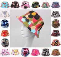 sombreros de visera uv al por mayor-20 Estilos Modelos de explosión Sra. Floral Visor Lona Sombrero para el sol Sombrero de pescador Protección UV Sombrero para múltiples colores Soporte FBA Envío de gota G850F