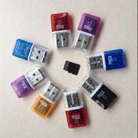 porzellankarte 2gb tf großhandel-High Speed Kristall transparent USB 2.0 TF Flash T-Flash-Speicher Micro SD-Kartenleser Adapter für 2GB 4GB 8GB 16GB 32GB 64GB TF-Karte