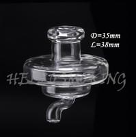 utilização de tubos de água venda por atacado-Tampa universal do carb do vidro para menos do que o diâmetro 35mm Tubulação de água de vidro pregos do banger de quartzo convenientopopular para usar o óleo do dab hellosmoking 662
