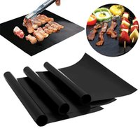 Wholesale cleaning magic stick - Non-Stick BBQ Magic Grill Mat Oven Reusable Teflon Barbecue Liner Heat Resistant Ferramentas Cooking Sheet BBQ Accessories