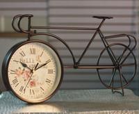 dövme demirini yenilemek toptan satış-Antik yollar geri avrupa tipi ferforje masa saati Retro bisiklet masa saati Amerikan ev dekorasyon