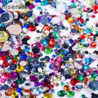 акриловые краски оптовых-5000pc/Bag 50gram Mix Sizes Colors Acrylic Rhinestone Gems Nail Rhinestones For Nails 3D Nail Art Shoes Dancing Dress Decoration