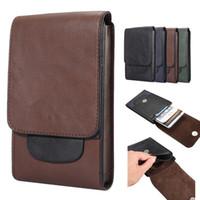 suporte de cintura de telefone venda por atacado-Universal pu leather phone case ao ar livre dual bags belt belt bolsa titular para iphone x 7 plus samsung s9 s8 nota 8