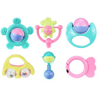 Wholesale wrist machine - Cartoon Baby Handbell Set Many Styles Musical Jingle Ball Infant Puzzle Toys Gift 4 31yj C R