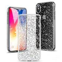 a5 gold großhandel-Bling bling case für iphone x case weiche glitter rückseitige fällen für samsung s8 s9 plus j7 2017 a5 2017 mit opp tasche