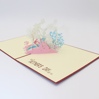 Wholesale 3d pop up birthday cards for sale - Group buy Greeting Card D Pop Up Mother s Day Birthday Thank You Card Laser Cut Hollow Handmade Festival Supplies ZA6239