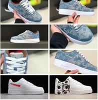 Wholesale adult skate shoes - Men Women Athletic Vlone Ultra 1 Low Skate Sneakers Adult Triple Black White Graffiti Casual Trainers Skateboard Shoes 36-45