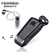 Wholesale Vibrating Bluetooth - 100% Original Fineblue F910 Wireless Bluetooth V4.0 Headset In-Ear Vibrating Alert Wear Clip Hands Free Earphone For Smartphones
