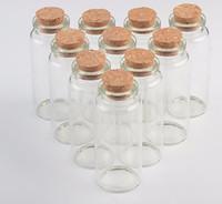 şişe şişeleri mantar toptan satış-Mantar Ile cam Şişe Çok Standart Sürüklenme Flakon Dileğiyle Şişeler Boş Şeffaf Küçük Flakon Stoper Ambalaj Şişeleri Sıcak Satış