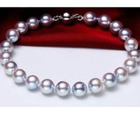 Wholesale tahitian pearl strands - 9-10mm Beaded Bracelet Tahitian Silver Gray Pearl Bracelet 7.5-8inch 925 Silver Clasp