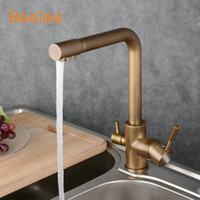Wholesale full sink - Beelee Antique Vegetables Basin Water Purifier Kitchen Faucet full Copper Hot and Cold Faucet Sink Pure Versatility BL731