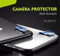 verres trempés achat en gros de-Nouveau 2.5D caméra trempé lunettes arrière lentille anti-rayures film protecteur d'écran de fibre pour iPhone XS MAX XR X 8 7 6 avec le paquet de détail
