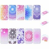 Wholesale case mobile huawei - Soft TPU Case For Galaxy Note9 iPhone Xr Xs Max Huawei P20 Lite Pro Lace Flower Dreamcatcher Silicone Butterfly Gradient Mobile Phone Covers