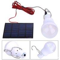 12v led glühbirnen solar großhandel-Solarleuchten Powered Led-Leuchten Lampe tragbare Solarlampenscheinwerfer mit 0.8w Solarleuchten für Outdoor-Wandern Camping Zelt Angeln