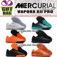 Wholesale mix kids shoes for sale - Mens Kids Football Boots Indoor Mercurial VaporX XII Pro TF IC Socks Soccer Cleats Turf Mercurial CR7 Ronaldo Indoor Boys Women Soccer Shoes