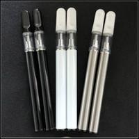 vapor descartável venda por atacado-Vape cerâmico descartável Canetas eCig Kit 400mAh Bateria 0.5ml Vazio Vape Pen Ceramic Coil 510 cartucho para óleo grosso
