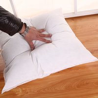 ingrosso divano bianco arredamento-Vendita calda 40x40 / 45x45 CM Standard Cuscino Cuscino Core Cuscino interni Home Decor Bianco cojines decorativos para divano Dropshipping