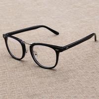 ed8b2997f3 Square fashion Glasses Frame Men 2018 High Quality Prescription Eye Optical  rivet Glasses frame retro Women Spectacle Eyewear