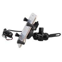 gps sahipleri bağlar toptan satış-360 derece dönebilen motosiklet gidon montaj tutucu telefon gps şarj braketi bisiklet bisiklet iphone samsung htc için standı