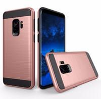 caso à prova de choque híbrido de armadura venda por atacado-Para Samsung Galaxy S8 S9 mais S7 caso extremo Nota iPhone para Escova Tampa x 8 6 7 Híbrido Armour Casos à prova de choque de telefone