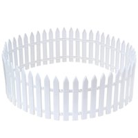 Wholesale fences ornament resale online - Ornaments Pointed Plastic Fence Garden White Decorated Garden Flowerbed Kindergarten Christmas Fence Small