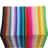 Wholesale Diy Felt Fabric - 40pcs 30*30cm colorful Non Woven Felt Fabric 1mm Thickness Polyester Cloth Felts DIY Bundle For Sewing Dolls Crafts wholesale high quality