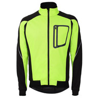 Wholesale Mens Cycling Jacket Xl - 2018 Mens Ropa Ciclismo Cycling Jackets Windproof Waterproof Coat Keep Warm Green blue red black Winter Cycling Clothing