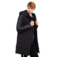 мужская одежда оптовых-новый стиль толстые зимние пуховик мужчины бренд-одежда с капюшоном длинный теплый белый утка вниз пальто мужской качество
