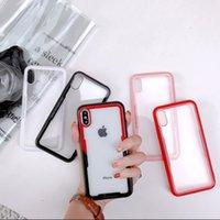 cajas de teléfono antichoque al por mayor-Caja del teléfono de lujo transparente de vidrio templado de nuevo panel cubierta del teléfono Shell piel para iPhone 6 6s 7 8 X Plus Anti-Shock
