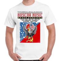 carteles de musica rock al por mayor-Cartel del Festival de Música de Moscú 80s Rock Motley Crue Bon Jovi Skid Row T Shirt 98