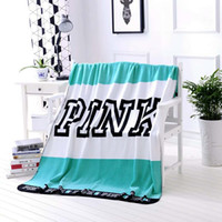Wholesale Hand Wash Sale - Hot Sale PINK Letter Blanket For Home Textiles bath beach towels travel outdoor sports towels soft office cover