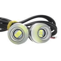 18mm drl led al por mayor-Eagle Eye 18mm 12V 5630 3SMD Eagle Eye LED Luz diurna DRL Luz de niebla ojos de pez presta