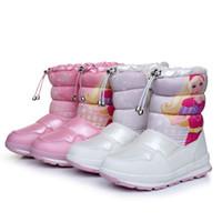 kış kar prenses çocuk ayakkabıları toptan satış-2018 Kızlar Kar Botları Çocuk Çocuklar Için Kar Ayakkabıları Keçe Kauçuk Ayakkabı Ayak Bileği Su Geçirmez Sıcak Peluş Kış Kız Çizme Prenses