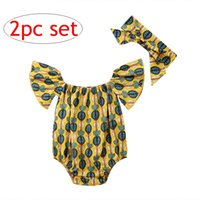 Wholesale leopard outfits for babies - Summer INS Cute Infant cactus Rompers Headband Newborn Baby Girls Sleeveless Backless Halter Romper Jumpsuit Cotton Sunsuit Outfit for 0-24M