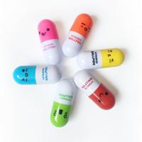 ingrosso penna a sfera per i bambini-Carino emoji blu inchiostro vitamina capsula pillole a sfera penne a sfera retrattile novità penna a sfera cancelleria bambini studente regalo