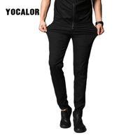 Wholesale stretch silk pants for sale - 2018 Ice Silk Men s Casual Track Work Sweat Pants Male Pantalon Homme Trousers Men Jogger Side Mens Fashion Leggings Stretch