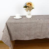 ingrosso tavolo da giardino verde-Tovaglia in lino cotone stile giardino Tovaglia tessuto vintage rettangolo cena tovaglia da picnic decorazione della casa