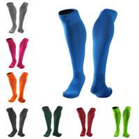 Wholesale grey knee socks - Long Tube Over Knee Socks Thicken Towel bottom Adult Soccer Socks Anti-Skid Running Stockings Pressure Socks Support FBA Drop Shipping G466Q