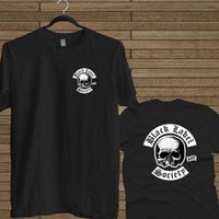 siyah ağır metal toptan satış-Siyah Etiket Toplum Heavy Metal Grubu Logosu Yeni Siyah Gömlek Mens 2018 moda Marka T Gömlek O-Boyun% 100% pamuk T-Shirt