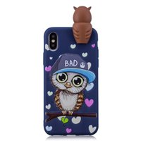 Wholesale panda soft silicone case online – custom For Iphone XR XS MAX X SE S Galaxy Note S9 D Cartoon Soft Silicone Case Owl Unicorn Bear Panda Unicorn Cover Rubber Cat Fashion