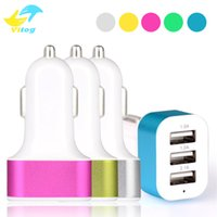 Wholesale triple adapter - Car Charger Traver Adapter Car Plug Hot Selling Triple 3 USB Ports Car Charger For iPhone 6s 7 plus samsung s6 s7 edge