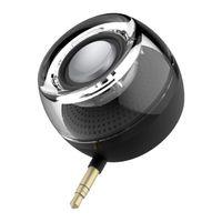 usb şarj edilebilir hoparlörler toptan satış-Taşınabilir Mini Hoparlörler, Kompakt Yuvarlak Güçlü Clear Bass 3.5mm Line-in Cep Telefonu için Mikro USB Portu ile Şarj Edilebilir Hoparlör