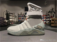 Wholesale air mags - AIR Mags Marty McFlys Sneakers Glow In The Dark Men's Basketball Shoes Footwear Mag Glow Sneaker Gray Black Red Colors with auto lace